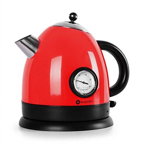 Klarstein 10018896 1.5L 2200W Rojo - Tetera electrica (2200 W, 200 mm, 200 mm, 230 mm, 1 kg)