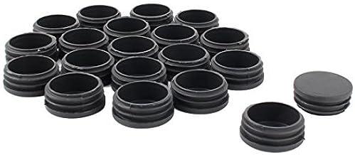DealMux Plastic Meubilair Tafelstoel Benen Ronde Buis Buis Insert Cap Cover 45mm Dia 20 stks Zwart