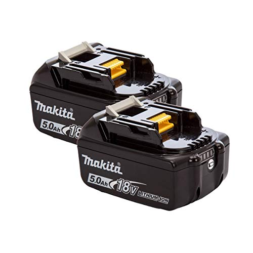 Mak BL1850 BL1850B - Batteria da 18 V, 5,0 Ah, per Makita DHP481Z, 18 V