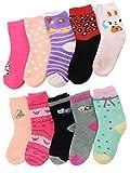 Unbekannt 10 Paar Mädchen Thermo Winter Socken in den Größen 19-37 (27-31)