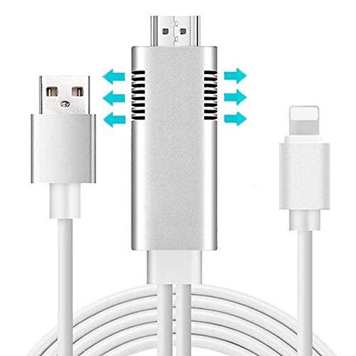 Tiancai - Cable de teléfono a TV MHL, 1080P Lightning a HDMI...
