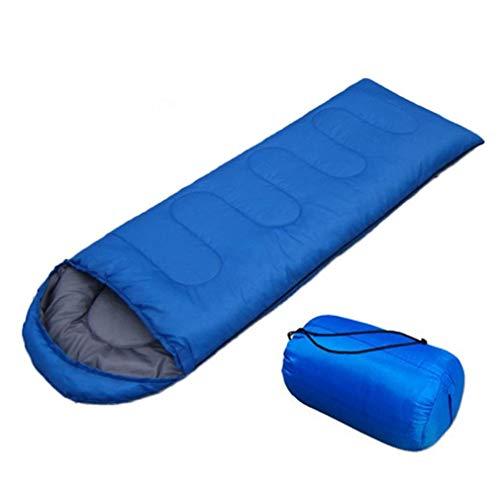 Générique Sac de Couchage Portable Ultra léger et imperméable avec Bonnet Nemo - Couleur : Bleu