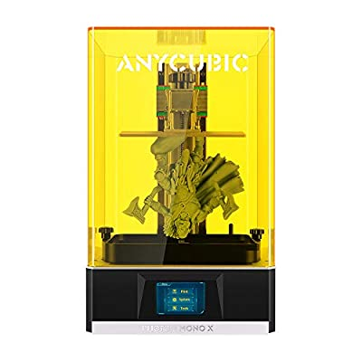 ANYCUBIC 3D Printer Photon Mono X UV Light Curing LCD SLA Resin 3D Printer with 3840 * 2400 4K Monochrome LCD Screen, Fast Printing and Wifi APP Remote Control, Print Size 192 x 120 x 250mm