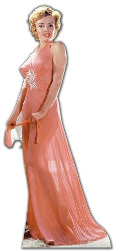 US-Way e.K. Pappaufsteller Marilyn Monroe 'Peach Night-Gown' Aufsteller Standup Figur Kinoaufsteller Pappfigur Cardboard Lebensgroß Life-Size Standup