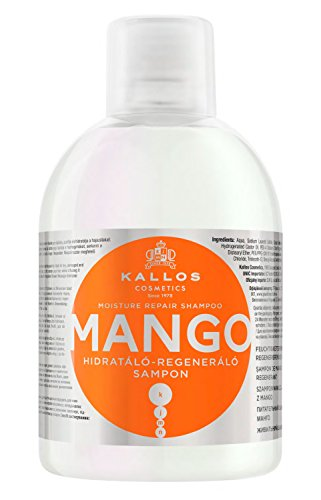 Kallos KJMN Mango Feuchtigkeitsspendendes-Regenerierendes Shampoo, 1000 ml