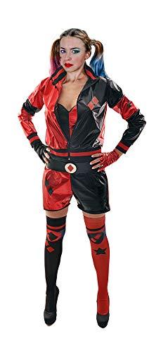 Ciao - Déguisement Harley Quinn pour fille et femme, original DC Comics (Taille Adulte, Couleur Rouge, Noir, (38-40), 11750.S