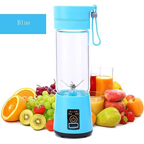 HYwot Youke persönlicher tragbarer Mixer, elektrischer Fruchtmischer mit 6 USB-Klingen, wiederaufladbar für Zuhause, Büro, Sport, Reisen, Draußen, perfekt für Obst, Gemüse, Milchshake,Blue
