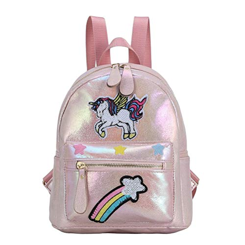 Mini Sequin Backpack, Girls School Backpack, Fashion Shiny Bling Glitter Sequins Girls Unicorn Sequins Backpacks School Bag Unicorn Children's Backpack Boys Glitter Lightweight