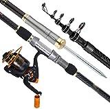 MGIZLJJ Fishing Rod Kit Fishing Pole Portable Telescopic Fishing Rod Combos Full Kits Spincast Fishing Reel Youth Fishing Pole Fishing Gear (Size : 3.6M/5Festival)