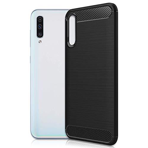 mtb more energy® Hülle Carbon für LG K42 (LM-K420, 6.6'') - Schwarz - flexibel - TPU Hülle Cover Tasche Schutzhülle