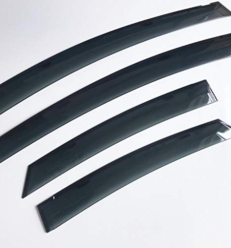 Wind Deflectors for Toyota Prius | 2009-2015 (1.8L) | Set of 4 - Front & Rear | Smoked Black