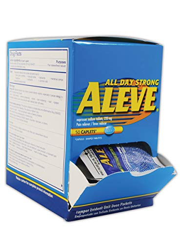 Aleve MP48850 Pain Relief Tablet, Standard, Blue/White (Pack of 50)