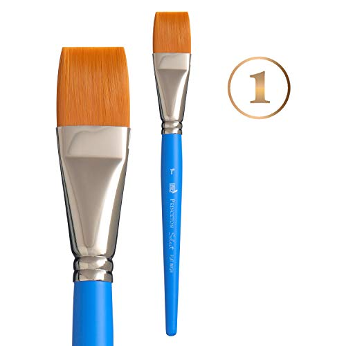 Princeton Select Artiste, Series 3750, Paint Brush for Acrylic, Watercolor and Oil, Flat Wash, 1 Inch