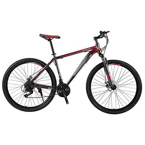 Bicicleta De Montaña para Hombre De 21 Velocidades Freno De Disco Doble 29 Pulgadas Bicicletas Urbanas Todoterreno Solo para Adultos Ciclismo Al Aire Libre Cola Dura Suspensión Delantera,A