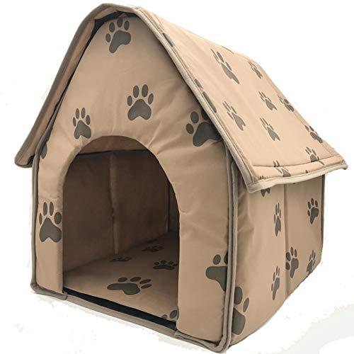 QLPXY Casa De Perro, de Color Caqui con Plegable Portátil para Mascotas...
