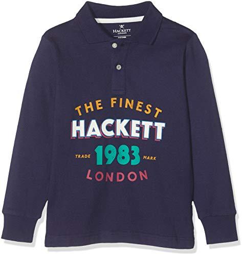 Hackett London Jungen Poloshirt 1983 LDN Ls, Blau (Indigo 561), 152 (Herstellergröße: 11-12 Years)
