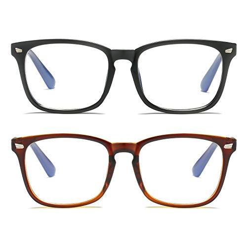occhiali computer MMOWW - Confezione da 2 anti luce blu Occhiali Computer:anti affaticamento degli occhi e mal di testa