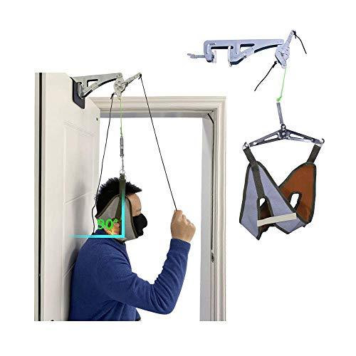 Cuello Unidad de tracción cervical Kit sobre la puerta Dispositivo en el hogar Cuello Descompresión espinal Ortopedia Terapia física Tracción en la parte superior Máquina el alivio del dolor