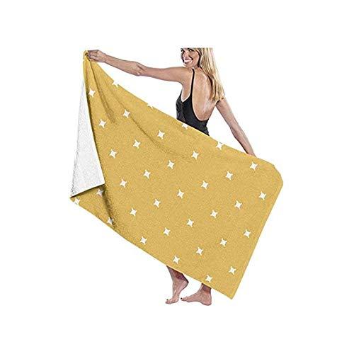 Leosware Cam - Toalla de baño geométrica de mostaza amarilla