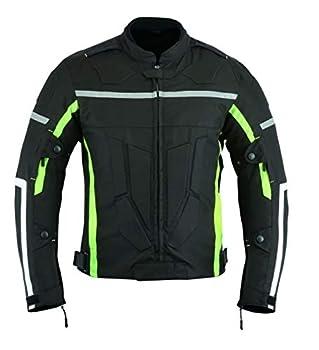 Veste de moto renforcée haute protection, imperméable, haute visibilité, renforcée, Noir, CJ-9404
