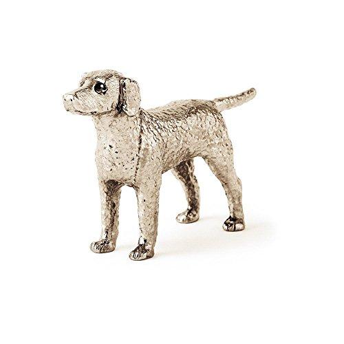 Curly Coated Retriever Made in UK, Collezione Statuetta Artistici Stile Cani