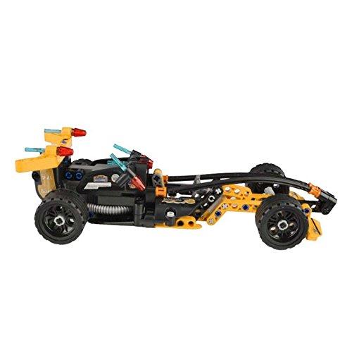2in1 Set Truck und Formel 1 Auto aus Bausteinen mit Rückziehfunktion Pull Back Car, Formel 1 mit Buggy Steckbausatz Konstruktion DIY, Auto zum Selberbauen Basteln, Block Building Fahrzeug, Car, Neu