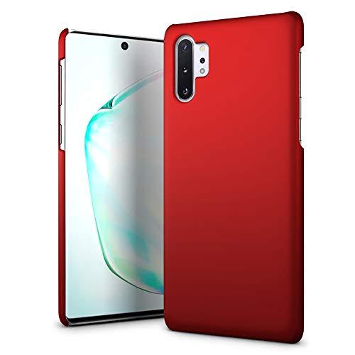 SLEO Hülle für Samsung Galaxy Note 10+ 5G / 10 Plus Hülle, Ultra Dünn Schutzhülle [Anti-Fingerabdrücke] [Anti-Scratch] Harte PC Handyhülle Tasche Schale Hardcase - Rot