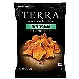 Terra Sweet Potato Vegetable Chips, No Salt Added, 1.2 Oz (Pack of 24)