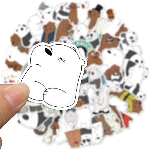 pzcvo Auto Aufkleber Sticker Laptop Gepäckaufkleber Einklebebuchaufkleber Wasserflaschenaufkleber Snowboard Aufkleber Sonnenlichtgeschützte Aufkleber Bear,1