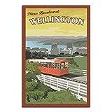ZHBIN New Zealand Vintage Reise Poster Wellington Kabel