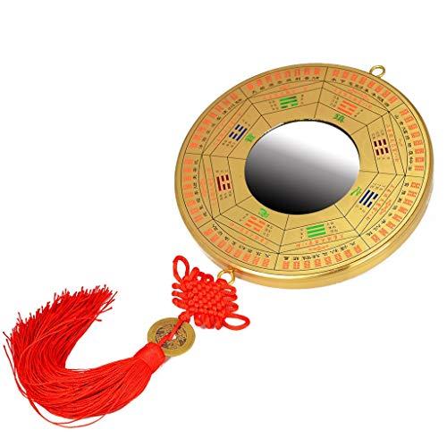 Chino Espejo Bagua Adornos de escritorio son adecuados for la decoración del hogar, Tradicional China Fengshui convexo chisme de los retrovisores exteriores colgante (espejo convexo) Tradicional Feng
