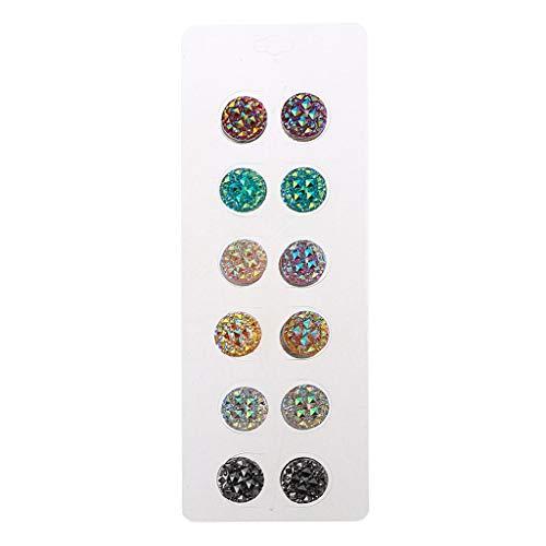 Myya Confezione da 12 Spille magnetiche con Strass Musulmani Multiuso con Spille Rotonde Hijab Kit Spille da Balia magnetiche Gioielli Musulmani