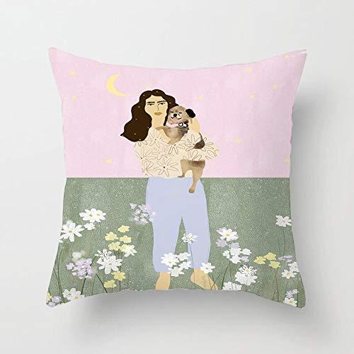 PPMP Ölgemälde Frauen Blume werfen Kissenbezug Matisse inspirierte Muster nach Hause Sofa Stuhl dekorative Kissenbezug Kissenbezug A14 45x45cm 2pc