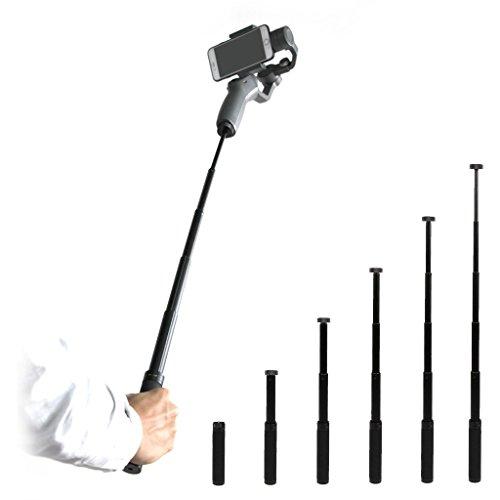 Hensych Handheld stabilisator Selfie Stick Verlängerungsstange Pole Skalierbarer Halter für DJI OSMO Mobile 2 / Zhiyun Smooth 4