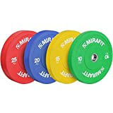Mirafit Olympic Rubber Bumper Plates - Choice of Size