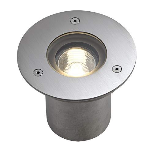 SLV Bodeneinbauleuchte N-TIC PRO 135 / Spot für Terrasse, Outdoor-Strahler, Einbau-Lampe Garten, Bodenlampe für Außen / GU10 IP67 35.0W edelstahl