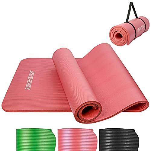 ActiveVikings Esterilla de gimnasia – Ideal para tu entrenamiento en casa o en el gimnasio – Esterilla de fitness, esterilla de deporte, esterilla de yoga