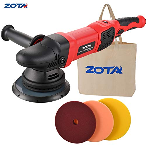 "ZOTA Polisher, 21mm Long-Throw Upgraded Orbital Polisher, 6.5""/ 900W Dual Action Car Buffer kit with 3 Professional Pad"