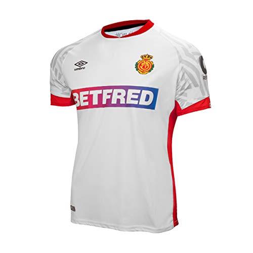 UMBRO RCD Mallorca Segunda Equipación 2019-2020, Camiseta, Blanco, Talla L