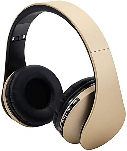 DKEE Auriculares Bluetooth Auriculares Inalámbricos Bluetooth Auriculares sobre El Oído, Estéreo Plegable, Suave Memoria-proteína Orejeras, W/Built-in Micrófono Modo Cableado, For La Clase En Línea,