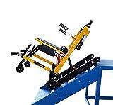 Ccsme Silla de escalera, escalera eléctrica Peso Escalada en silla de ruedas Capacidad de 350 libras for subir escaleras Presidente de la escalera de emergencia Escalada Silla plegable con pilas de la