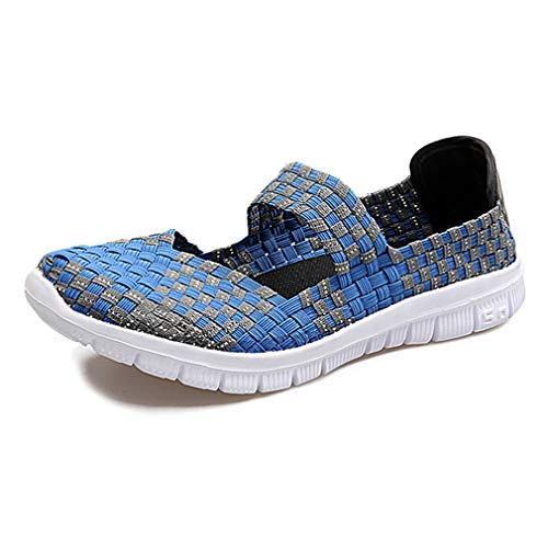 qiansu Women Slip On Water Shoes - Mesh Woven, Lightweight, Colorful, Elastic, Running, Outdoor Shoes, Trainer, Comfort, Walking Sport Shoes
