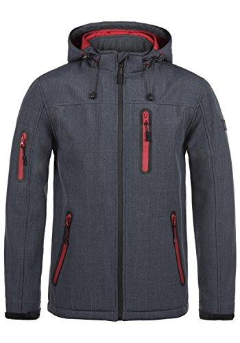 Indicode Ottawa Herren Softshell Jacke Funktionsjacke Übergangsjacke Mit Kapuze Und Fleece-Futter, Größe:L, Farbe:Navy Mix (420)