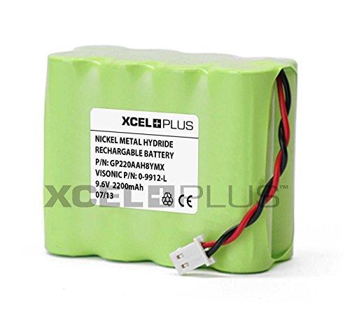 Visonic 1800 mAh Powermax Pro 9,6 V Panel de alarma batería 0-9912-L