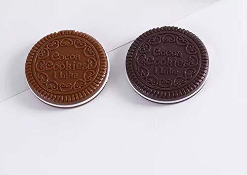 Miroir de Poche En Forme De Biscuits Chocolat