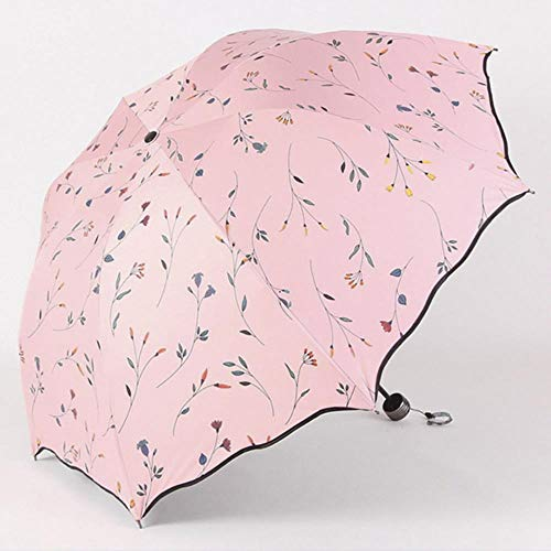 Yukie Chic Bloemen ANTI-UV Opvouwbare Paraplu's zon Compact Vrouwen Vrouwelijke Dames Dame Winddichte Regen Mooie Bloem Snoep Kleurrijke Paraplu