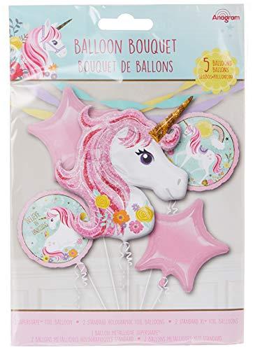 Amscan 3727401 Folienballon Bouquet Magical Unicorn