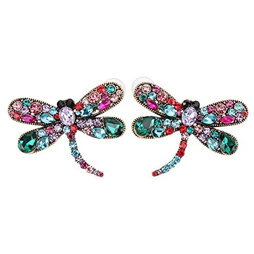 Hztyyier Pendientes de libélula para Mujer, Pulsera, Colgante, Collar, Aniversario, Regalos de cumpleaños, joyería para Amantes de la libélula
