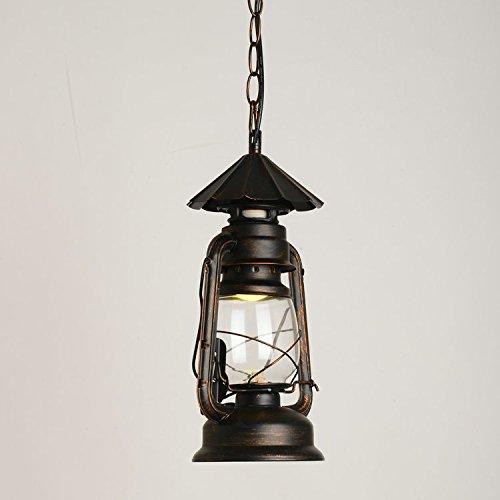 GFEI La iluminacion al Aire Libre Hierro Decorativas Retro lámpara de Queroseno candelabro araña Restaurante,28cm