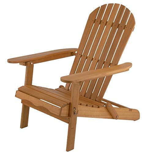 National Outdoor Living Eucalyptus Wood Adirondack Patio Chair